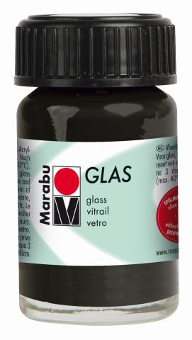 Marabu-Glas 073, 15 ml schwarz