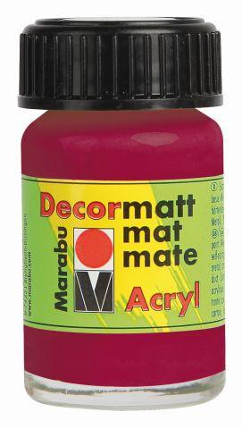 Marabu-Decormatt 004, 15 ml granatrot