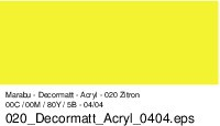 Marabu-Decormatt 020, 15 ml zitron
