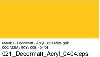 Marabu-Decormatt 021, 15 ml mittelgelb