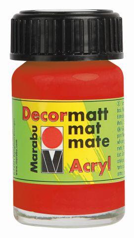 Marabu-Decormatt 030, 15 ml zinnoberrot hell