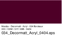 Marabu-Decormatt 034, 15 ml bordeaux