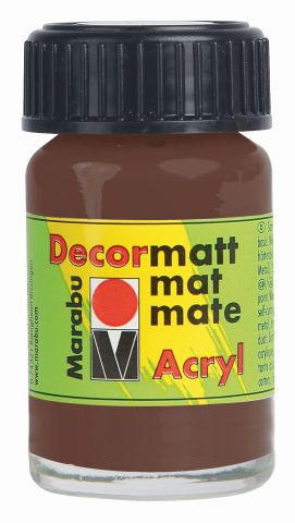Marabu-Decormatt 040, 15 ml mittelbraun