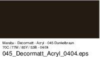Marabu-Decormatt 045, 15 ml dunkelbraun