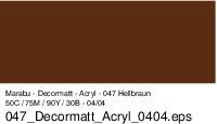 Marabu-Decormatt 047, 15 ml hellbraun