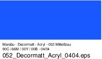 Marabu-Decormatt 052, 15 ml mittelblau