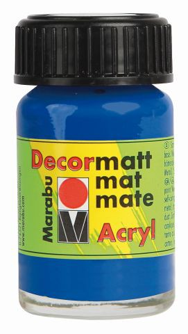 Marabu-Decormatt 055, 15 ml ultramarinblau dkl.