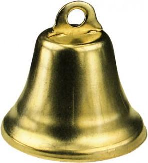 Glocken, ø ca.14 mm, 7 Stück, vermessingt