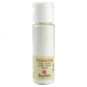 Embossing-Puder, weiß, deckend, 20 ml Flasche