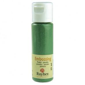 Embossing-Puder, immergrün, deckend, 20 ml Flasche