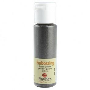 Embossing-Puder, silber, deckend, 20 ml Flasche