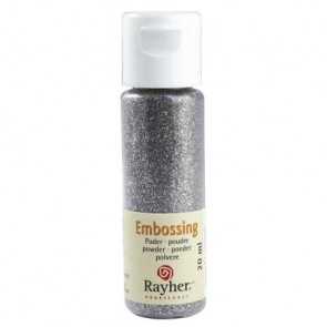 Embossing-Puder, brill.silber, deckend, 20 ml Flasche