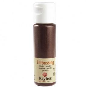 Embossing-Puder, kupfergold, deckend, 20 ml Flasche