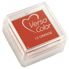 Stempelkissen  Versacolor , orange, Stempelfläche 2,5x2,5 cm