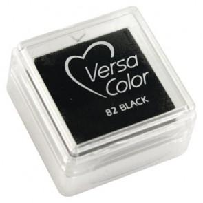 Stempelkissen  Versacolor , schwarz, Stempelfläche 2,5x2,5 cm