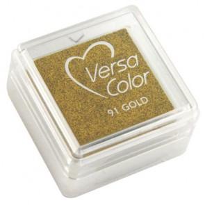 Stempelkissen  Versacolor , brill.gold, Stempelfläche 2,5x2,5 cm