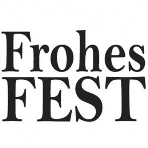 Holz-Stempel  Frohes Fest , 2x3cm