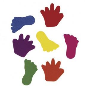 Crepla-Hände & Füße, 2 Sorten, gemischt, 3-3,5 cm, SB-Btl. 130 Stück