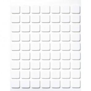 3-D Klebeplättchen, 11x12x2 mm, SB-Btl. 1 Platte 63 Stück