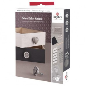 BP Deko-Knäufe Beton, inkl. Gießform, Beton, Eingießhilfe etc.