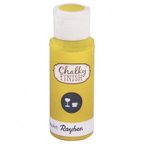 Chalky Finish for glass, lichtgelb, Flasche 59ml
