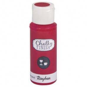 Chalky Finish for glass, klassikrot, Flasche 59ml