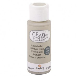 Chalky Finish for glass, helltopaz, Flasche 59ml