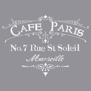 Schablone Café Paris, 30,5x30,5cm, SB-Btl 1Stück