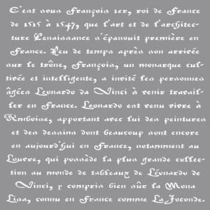 Schablone franz. Schrift, 30,5x30,5cm, SB-Btl 1Stück