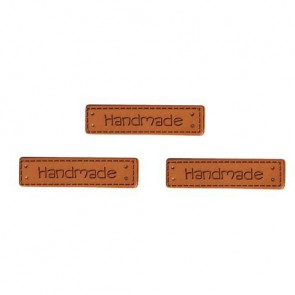Kunstleder Labels -   Handmade  , 4x1cm, SB-Btl 3Stück