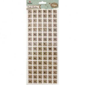 Korksticker Alphabet, quadratisch, SB-Btl 96Stück