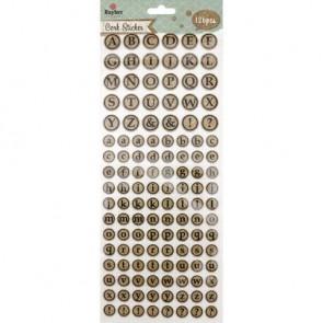 Korksticker Alphabet, rund, SB-Btl 126Stück