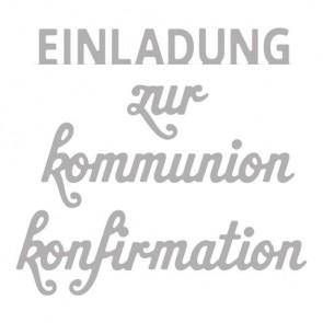 Stanzschabl. Set:  Einladung zur... , 2,2-7,5cm, Konfirmation Kommunion, SB-Btl 4Stück