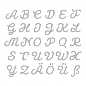Stanzschabl. Set: Connected Alphabet, 0,5-1,8cm, CAPITAL, SB-Btl 30Stück
