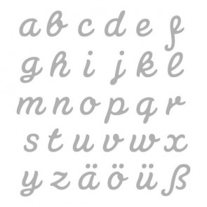 Stanzschabl. Set: Connected Alphabet, LOWER CASE, SB-Btl 30Stück
