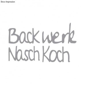 Stanzschabl. Set : Backwerk Naschkoch, SB-Btl 4Stück