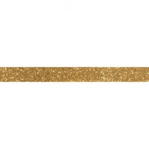 Glitter Tape, gold, 15mm, Rolle 5m