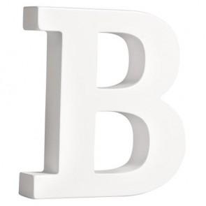 MDF- Buchstabe  B , weiß, 11cm, Stärke 2cm