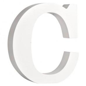 MDF- Buchstabe  C , weiß, 11cm, Stärke 2cm