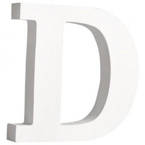 MDF- Buchstabe  D , weiß, 11cm, Stärke 2cm