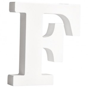 MDF- Buchstabe  F , weiß, 11cm, Stärke 2cm