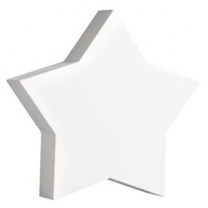 Holz-Zeichen   Stern  , weiß, 11cm, Stärke 2cm