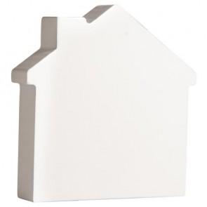 Holz-Zeichen   Haus  , weiß, 11cm, Stärke 2cm