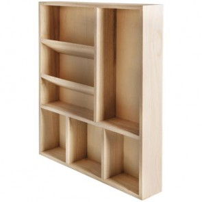 Holz Setzkasten, FSC, 30x38x5,2cm, 7 Fächer