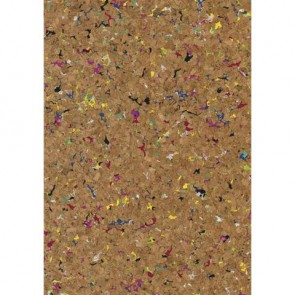 Korkstoff Granulat 45x30cm gerollt, (nat./bunt) 0,5 mm , Box 1Rolle