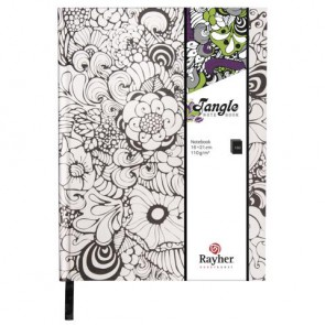 Tangle Notizbuch   Orchid  ,FSC Mix Credit, weiß, 15,9x20,9cm, 160 Blatt, 110g/m²