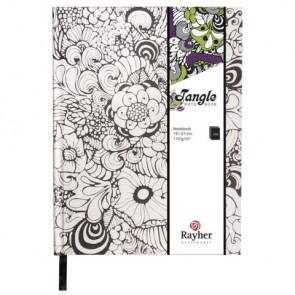Tangle Notizbuch   Orchid  ,FSC Mix Credit, weiß, 15,9x20,9cm, 160 Blatt, 110g/m²