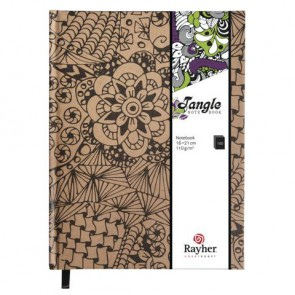 Tangle Notizbuch   Cameo  ,FSC Mix Credit, kraft, 15,9x20,9cm, 160 Blatt, 110g/m²