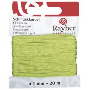 Schmuckkordel, hellgrün, ø 1 mm, 20 m