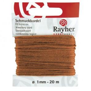 Schmuckkordel, kastanie, ø 1 mm, 20 m